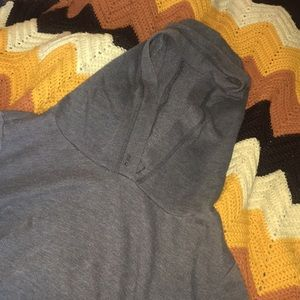 Grey Long Sleeve Hoddie